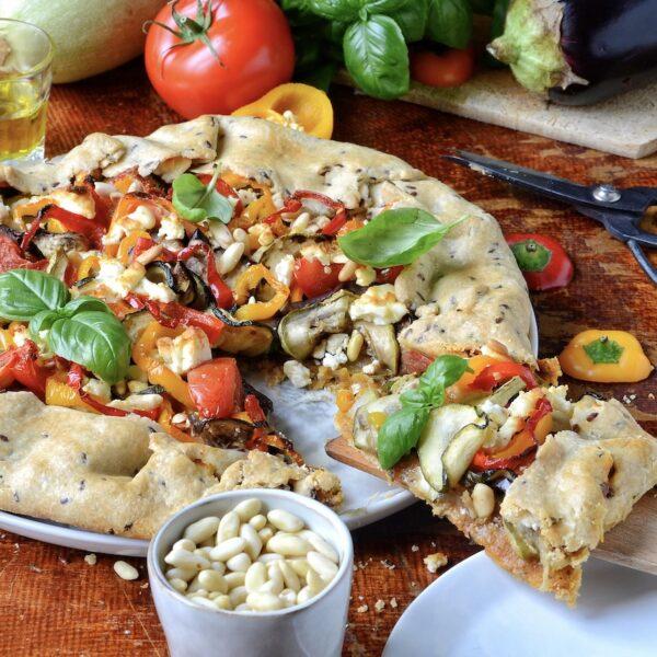 tarte aux légumes du soleil feta pignons recette gourmande été brunch healthy