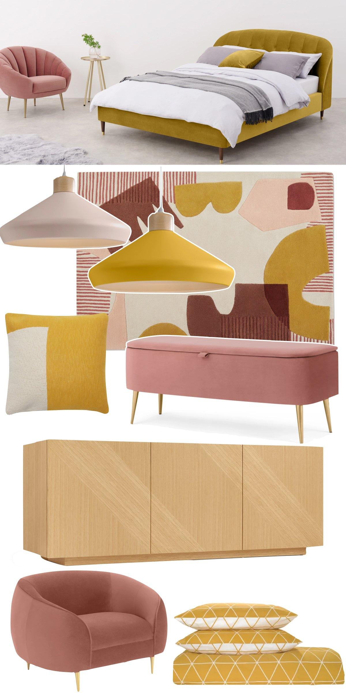 tendance déco 2021 couleur ocre chambre - blog décoration intérieure - clemaroundthecorner