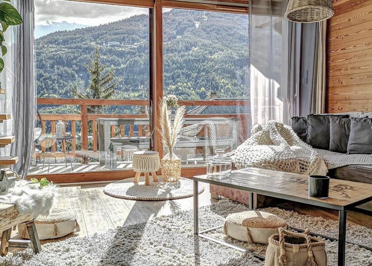 visite déco style montagne alpes paolina salon