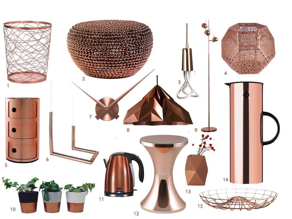 idée déco cuivre accessoires salle de bain - blog décoration - clemaroundthecorner