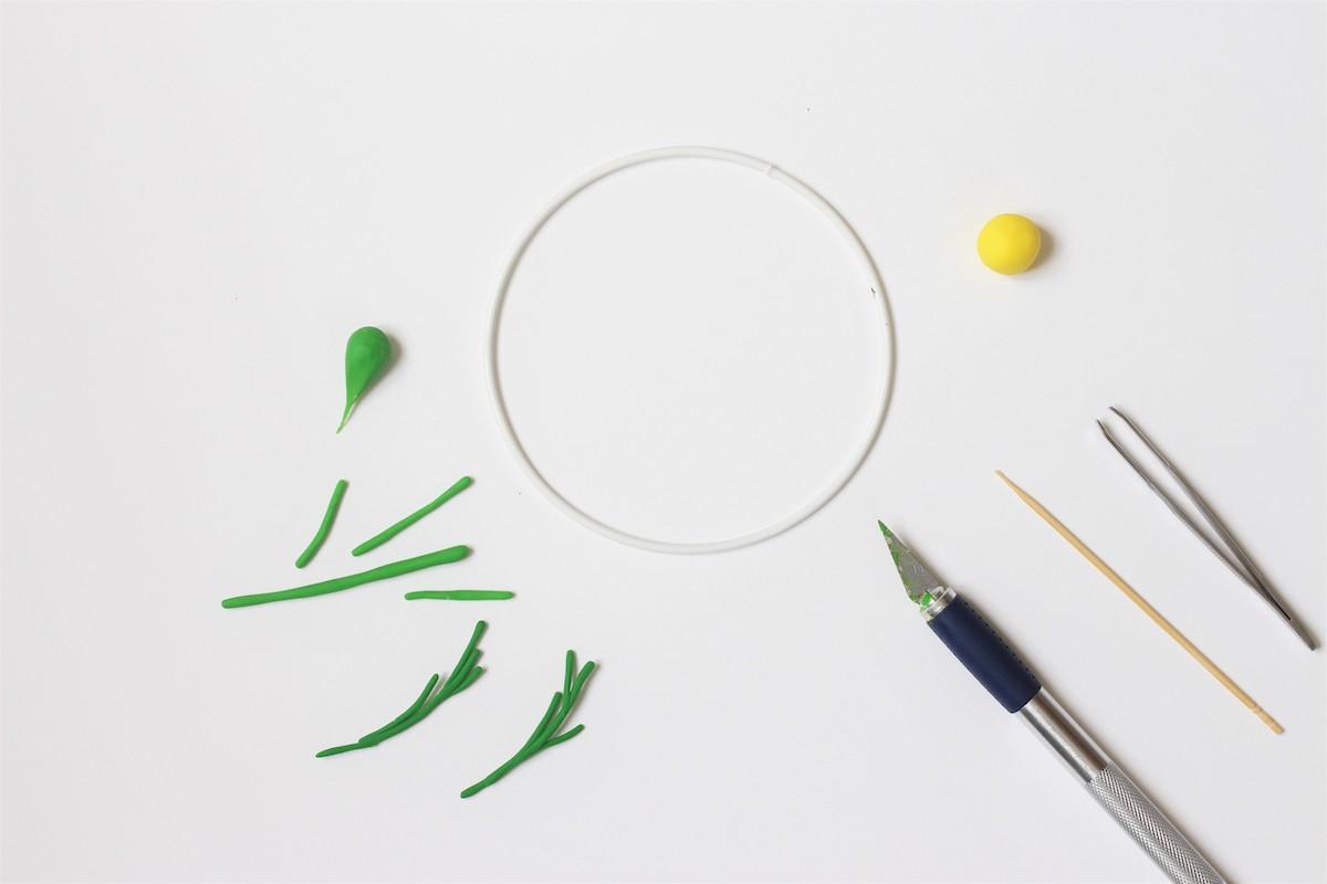 activité bricolage enfant pâte à modeler coloré décoration chambre