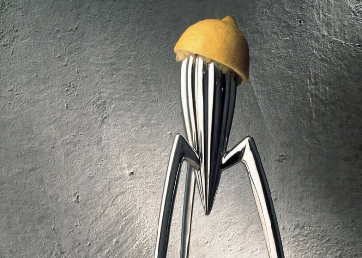 alessi pressoir citron design calamar - blog déco- clematc