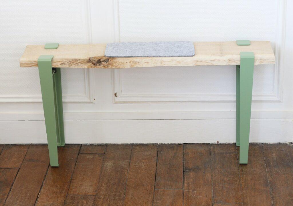 banc brut bois planche upcycling - blog déco slow life minimaliste - clem around the corner