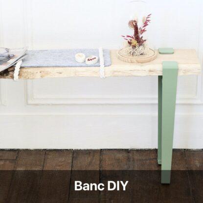 banc d'entrée diy en bois scandinave à fabriquer soi-même