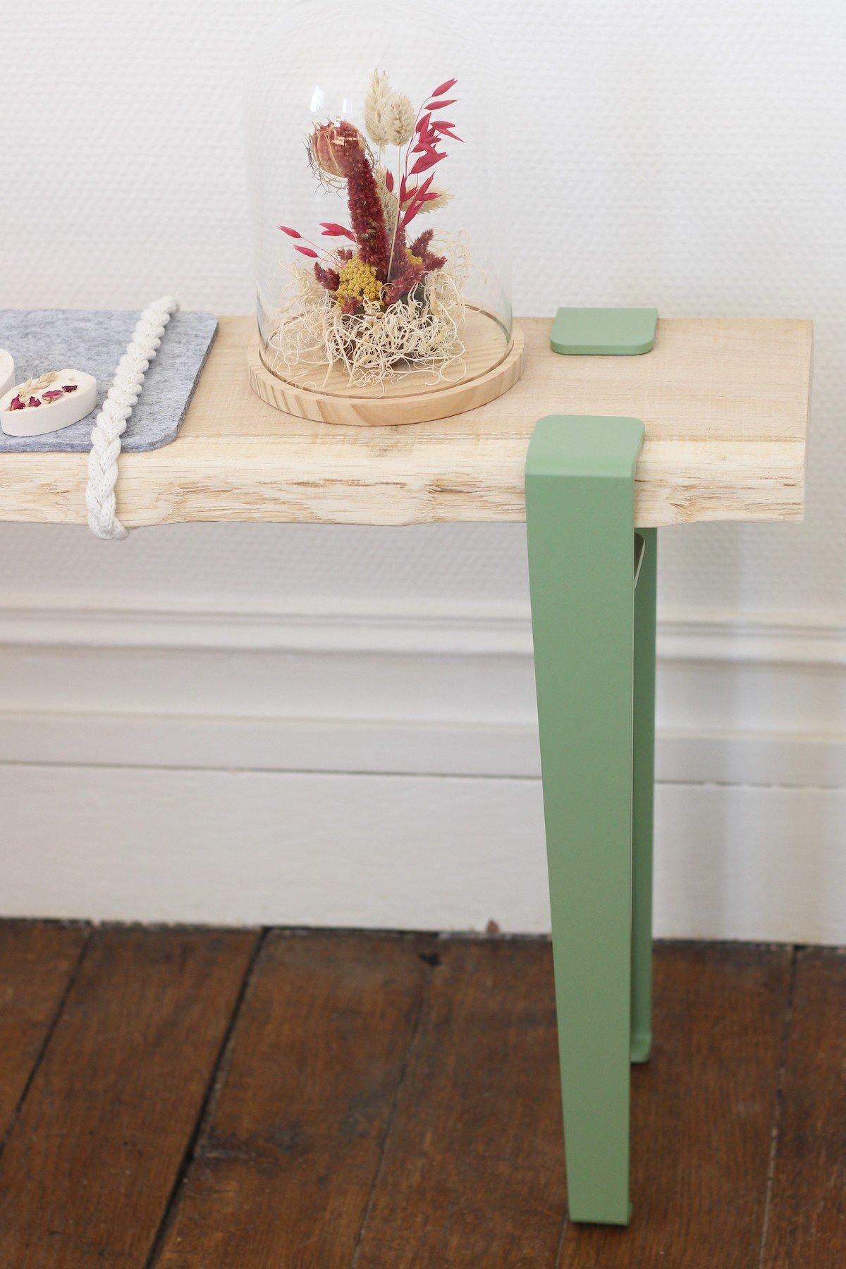 comment fabriquer banc d'entrée DIY bois pied pince style scandinave