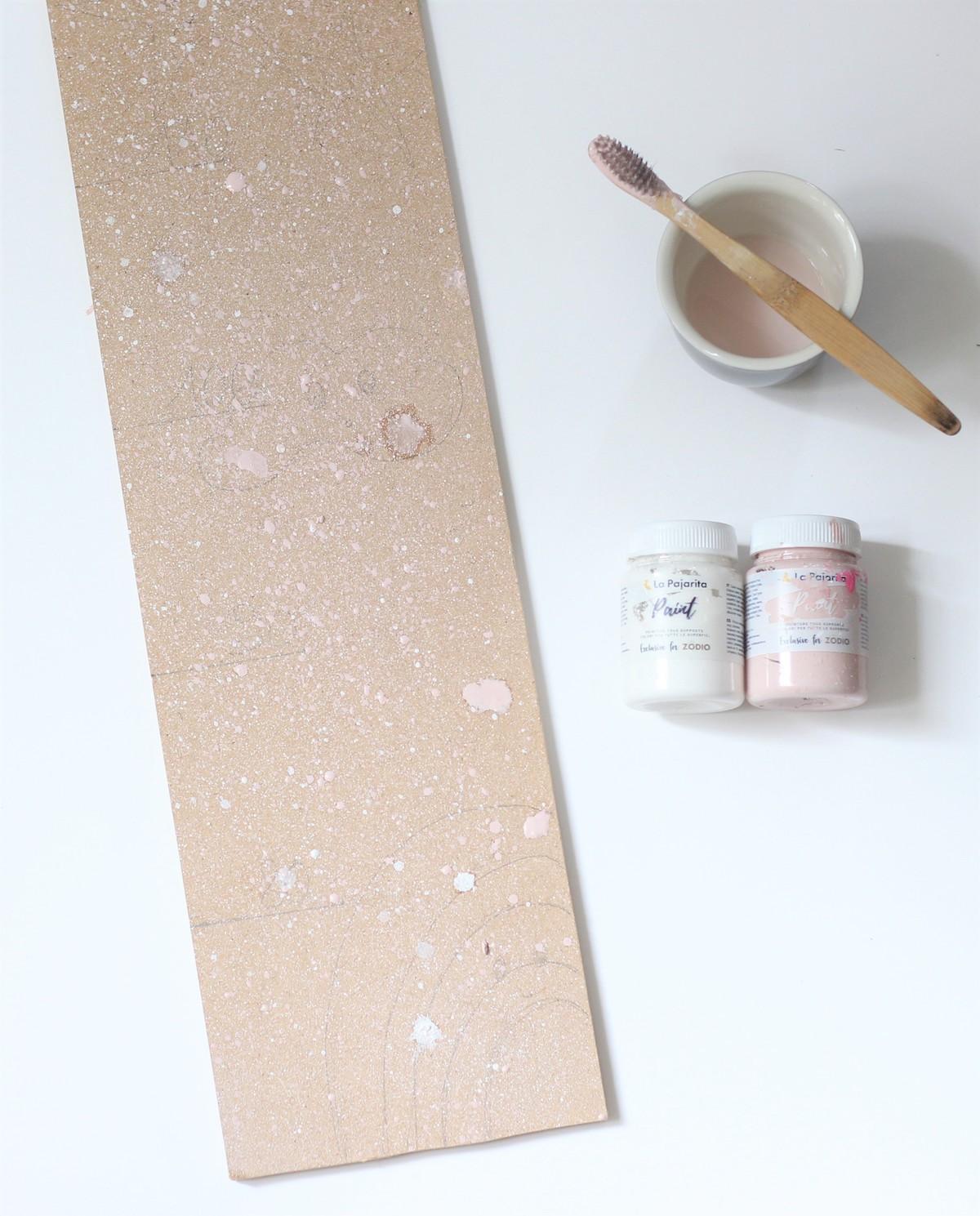 comment peindre confetti brosse à dent idée enfant gouache