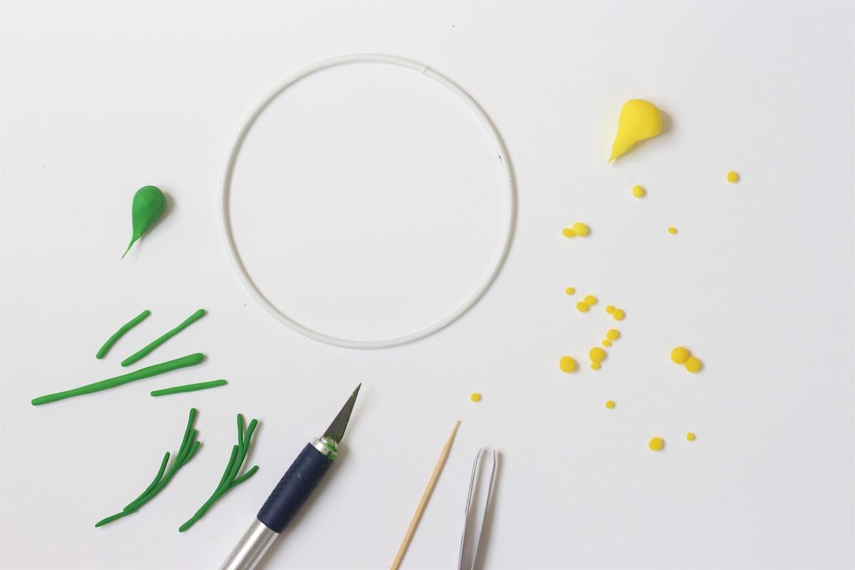 créer fleur mimosa couronne à fabriquer - blog déco - clem around the corner