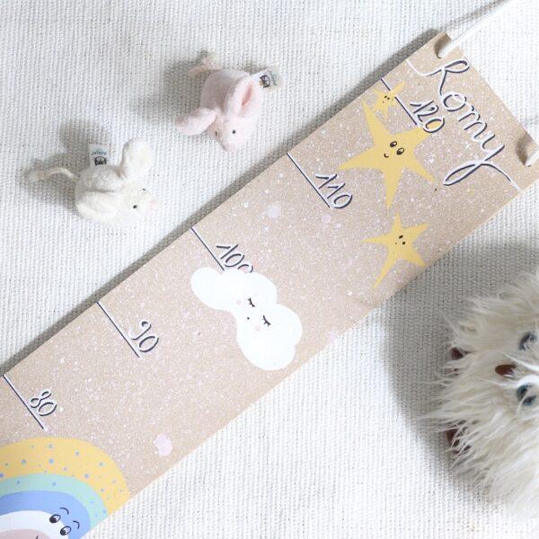 diy toise bois à fabriquer chambre bébé cadeau naissance enfant décoration