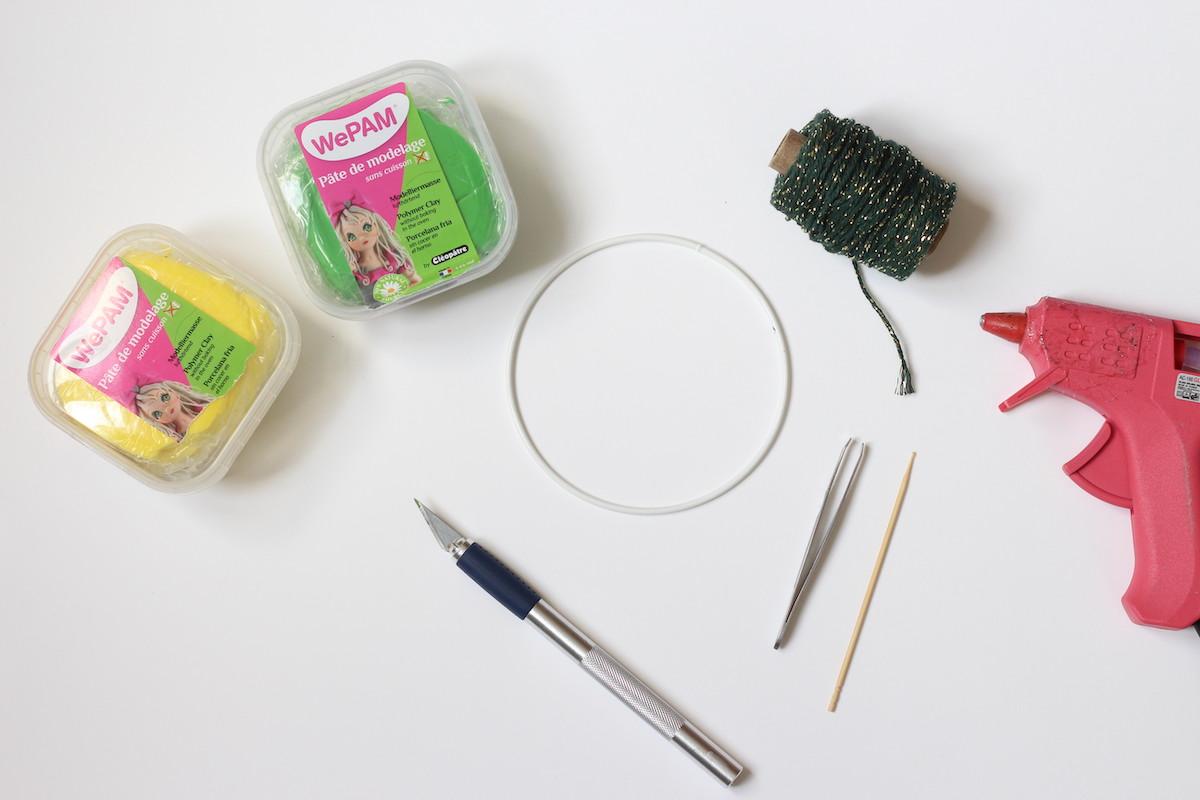 fabriquer décoration murale avec pâte de modelage wepam fimo