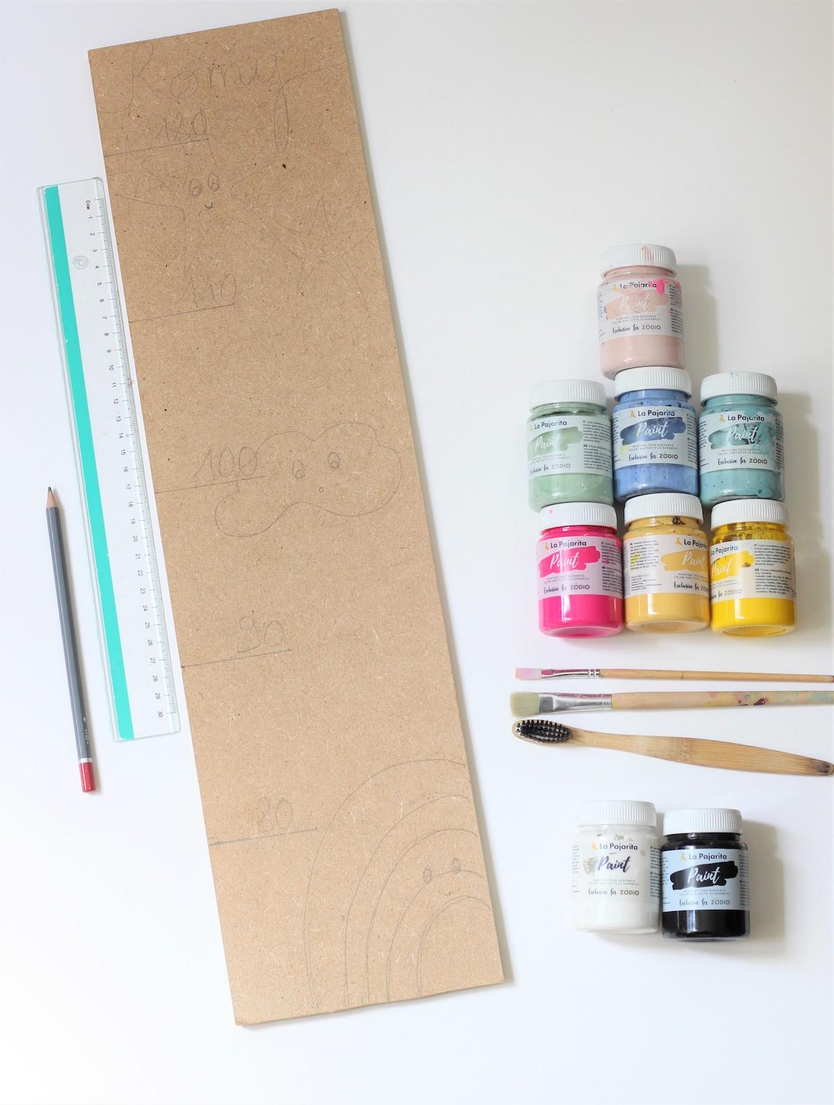 idée bricolage enfant décoration fait maison pour sa chambre peinture gouache