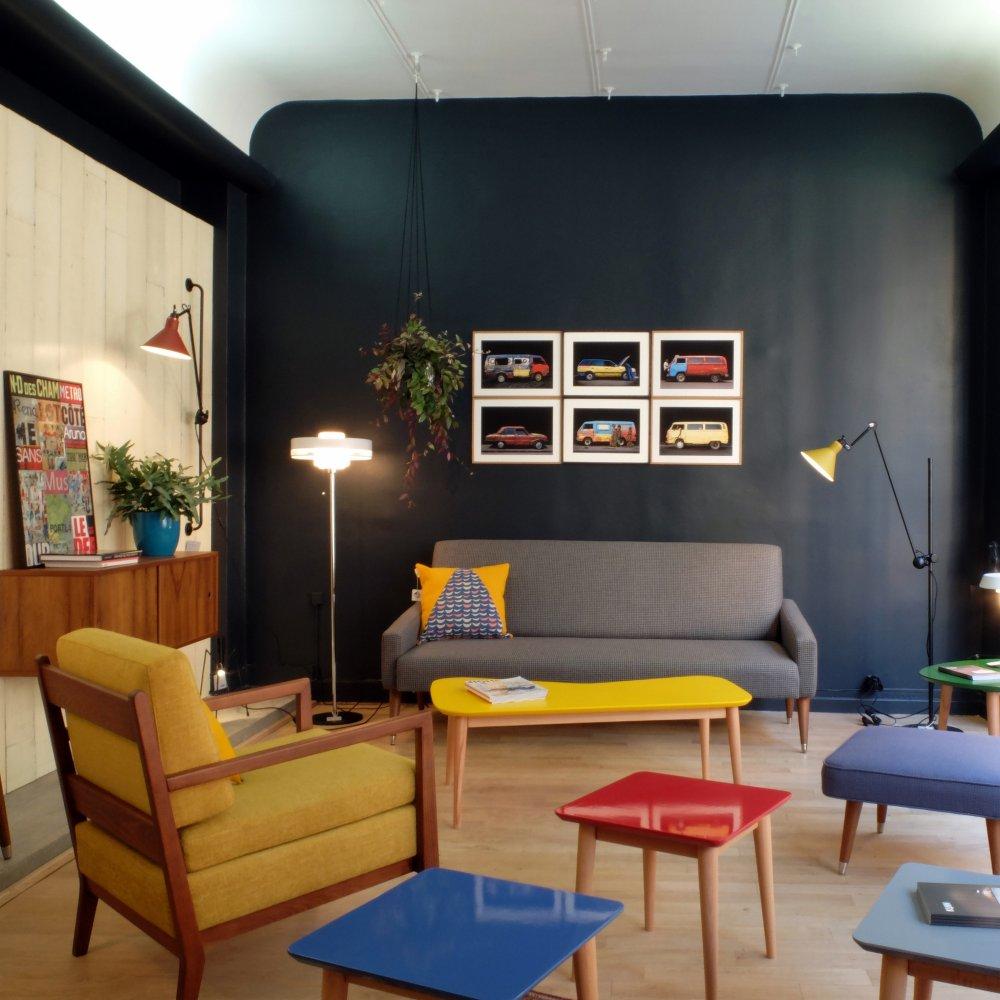 kann design meuble mid century moderne style années 50 bois massif table canapé