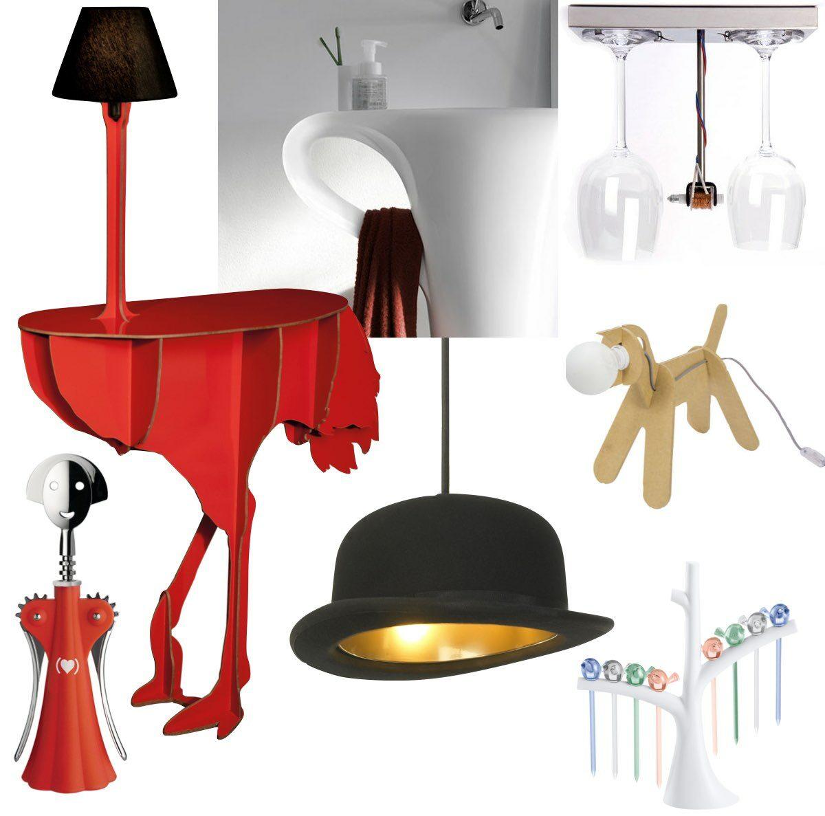 meuble original design table lampe animal chien autruche - blog déco - clem around the corner