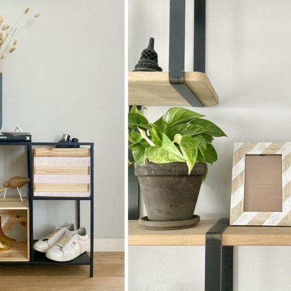 objet à personnaliser en bois petit meuble cadre entrée - blog création déco - clem around the corner