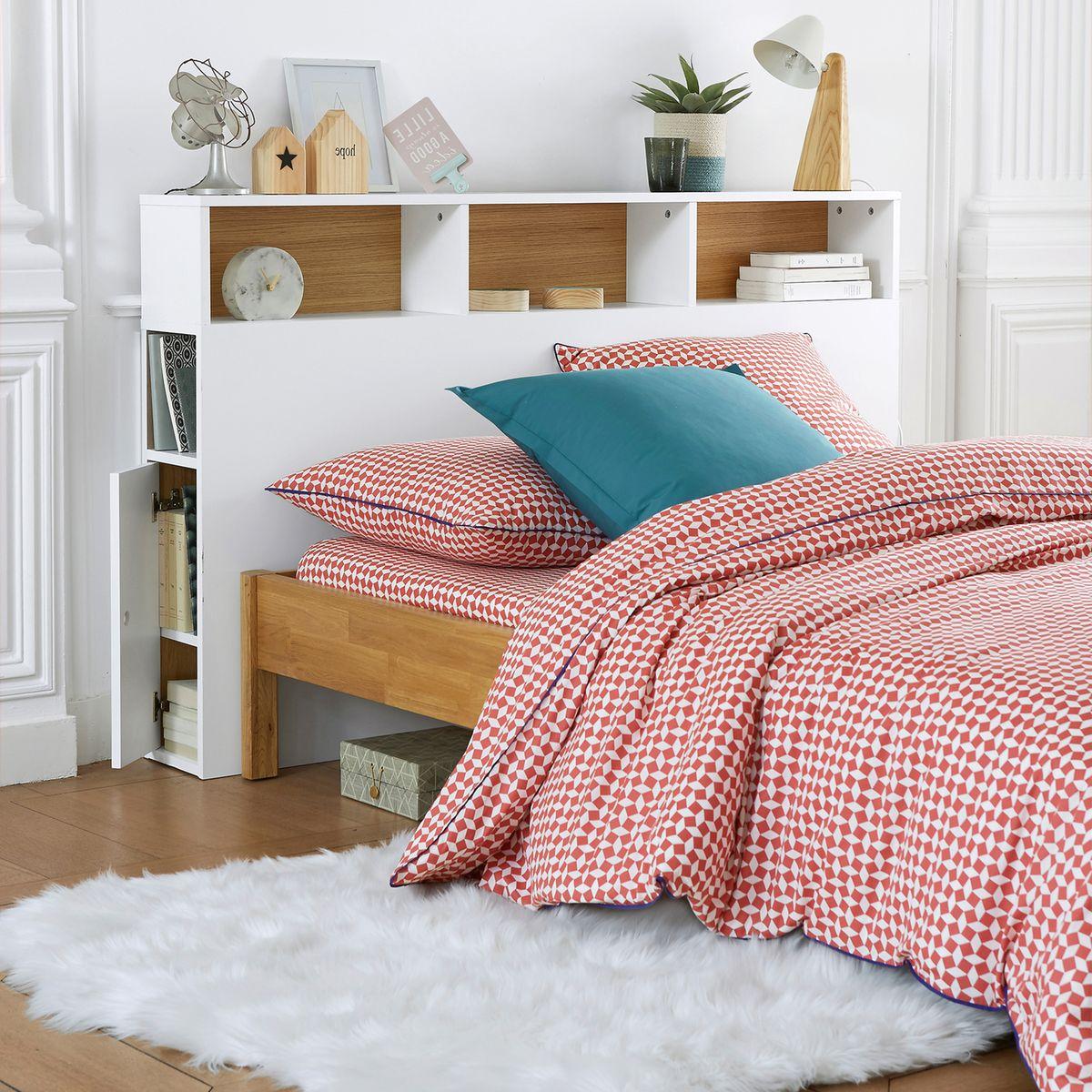 optimiser le rangement tête de lit avec rangement blanc scandinave bois design - blog déco - clem around the corner