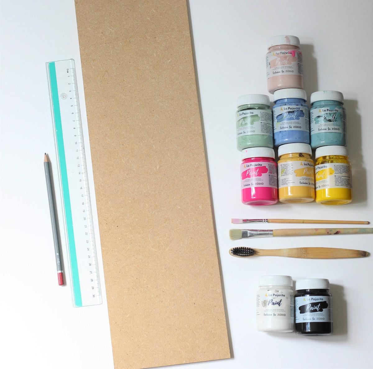 outil peinture personnalisation règle murale pour mesurer taille enfant déco