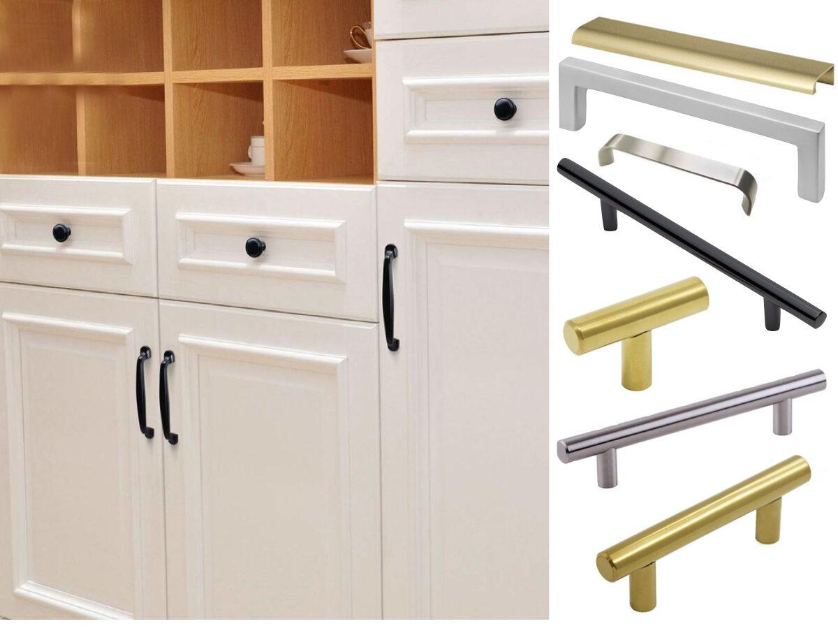 poignée bouton meuble placard porte pas cher design noir mat laiton moderne doré