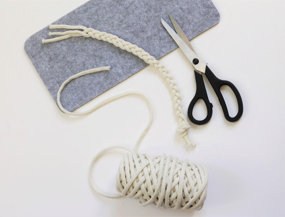 que faire chute corde feutrine sans couture tutoriel diy