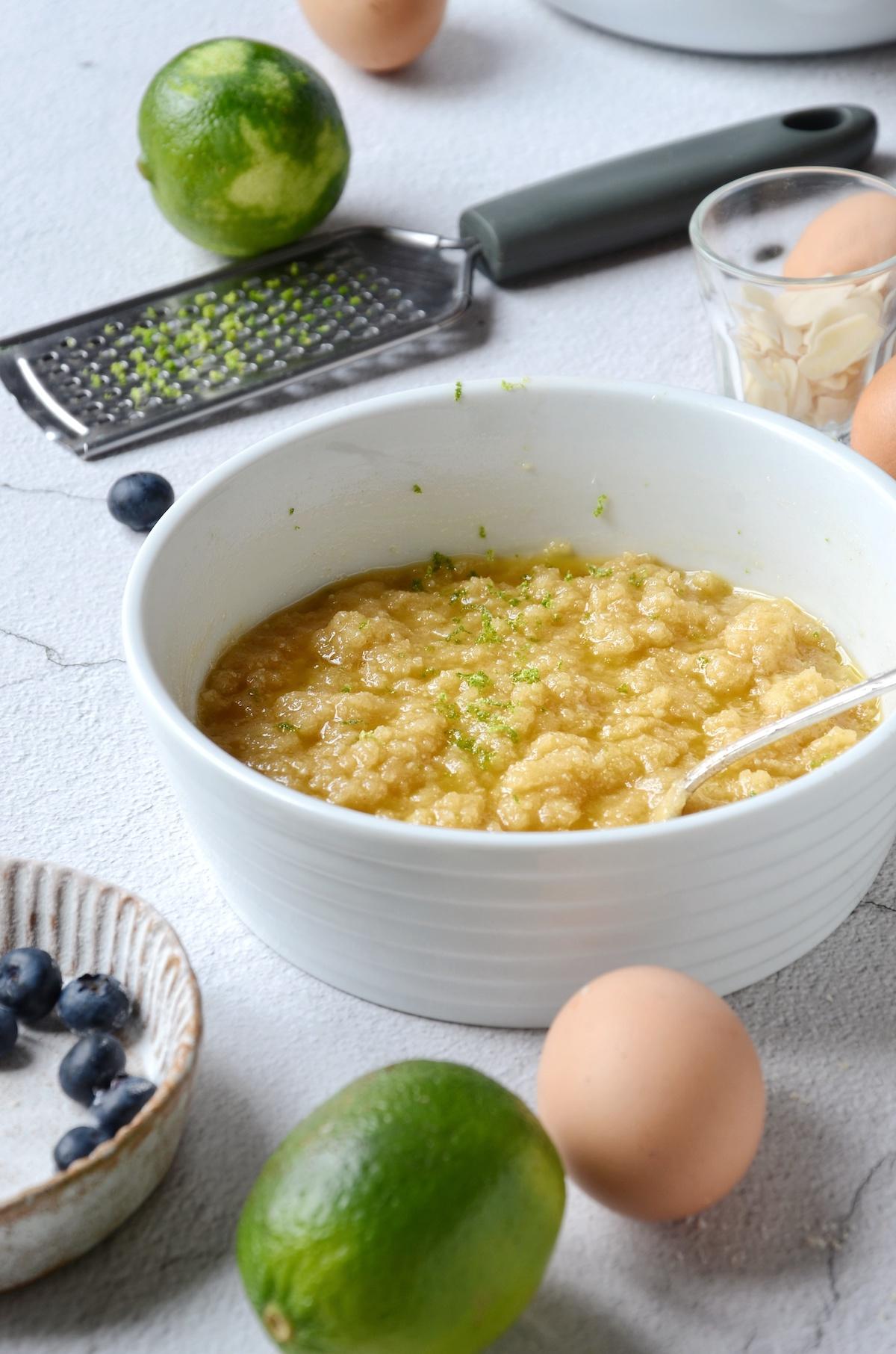 recette financier myrtille citron vert miel facile dessert gâteau été