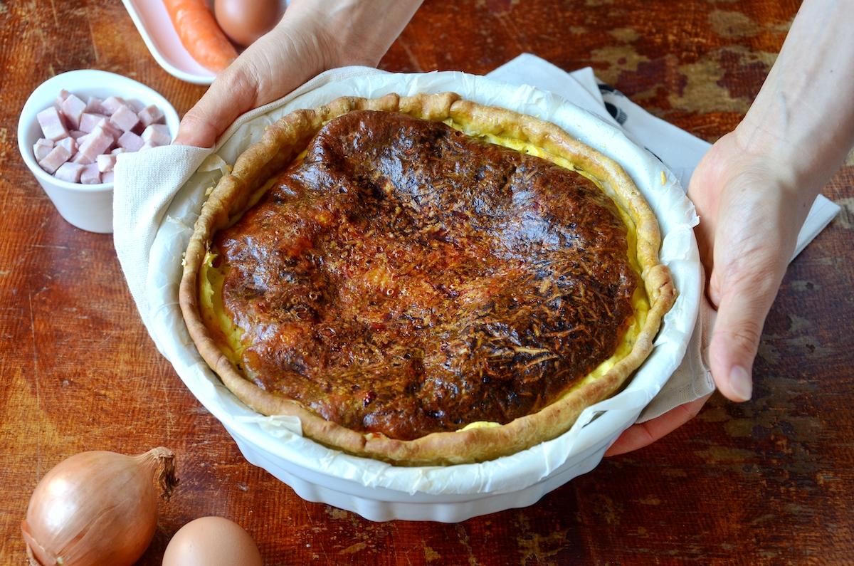 recette quiche lorraine équilibrée carotte muscade curcuma