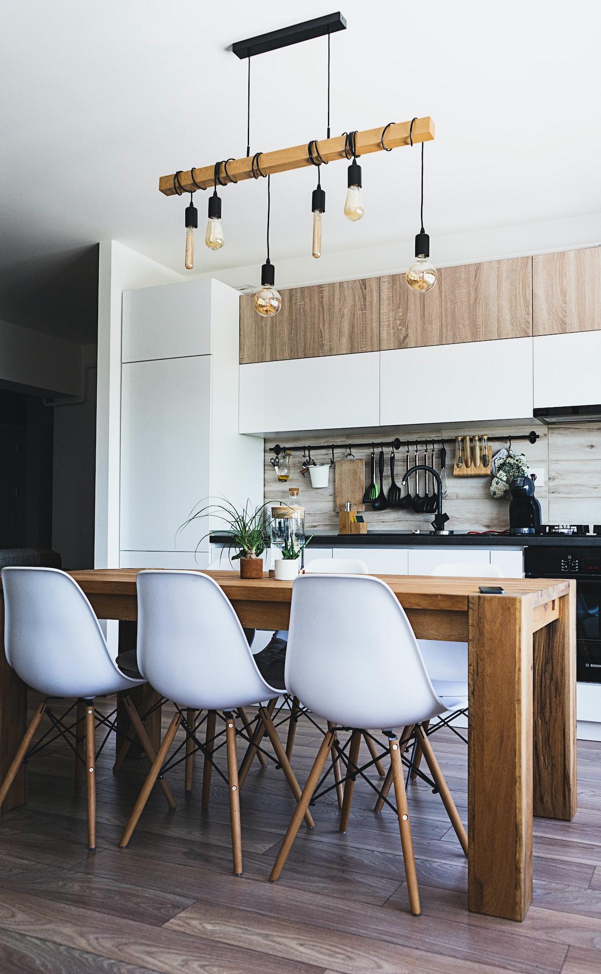 relooker une cuisine loft scandinave sticker imitation bois facade meuble autocollant adhésif trompe oeil