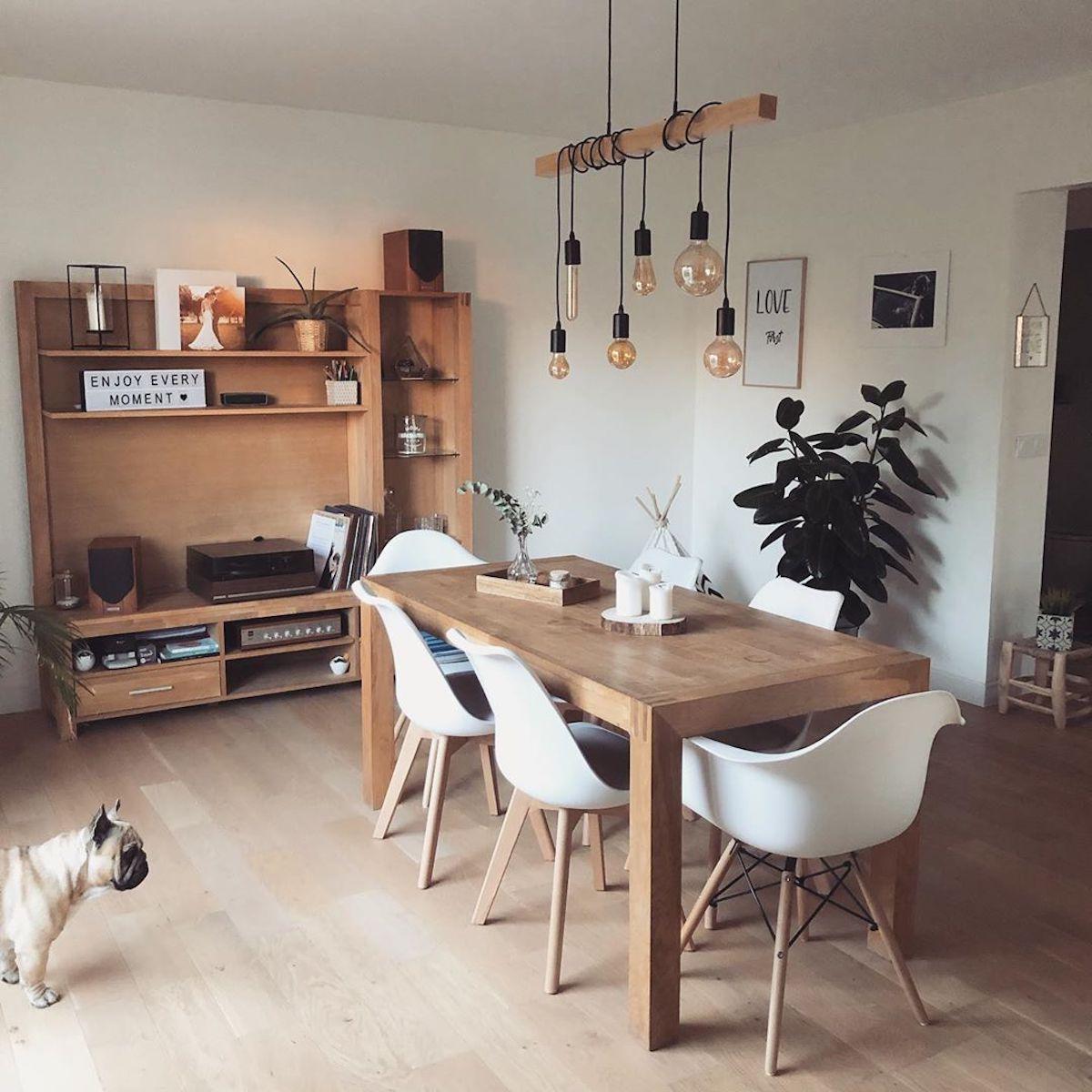 salle à manger table bois chaise eames - blog déco - clematc