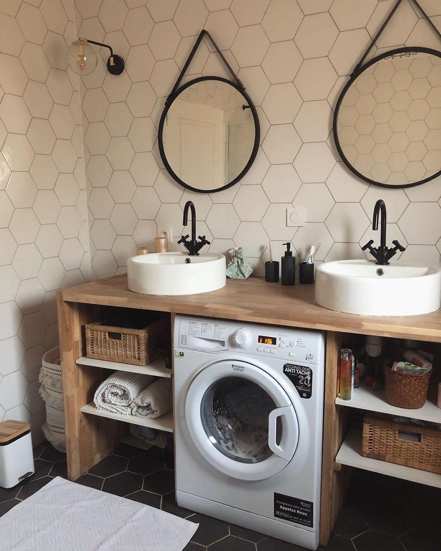 salle de bain déco scandinave industrielle lucie double vasque