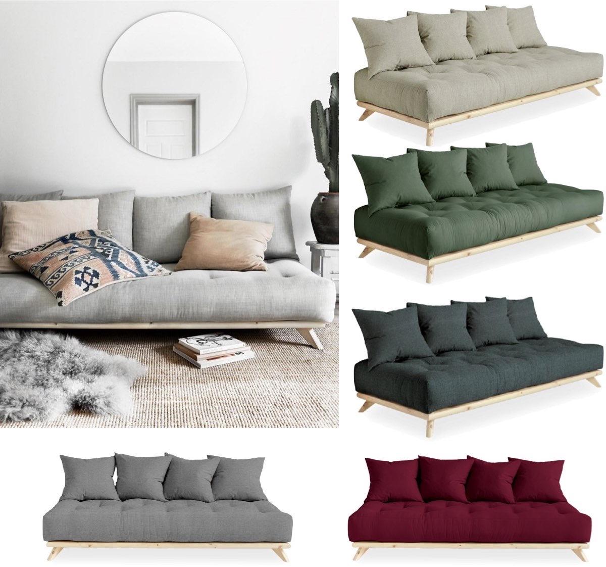 salon scandinave canapé lit futon fabriqué Danemark déco hygge blog - clem around the corner