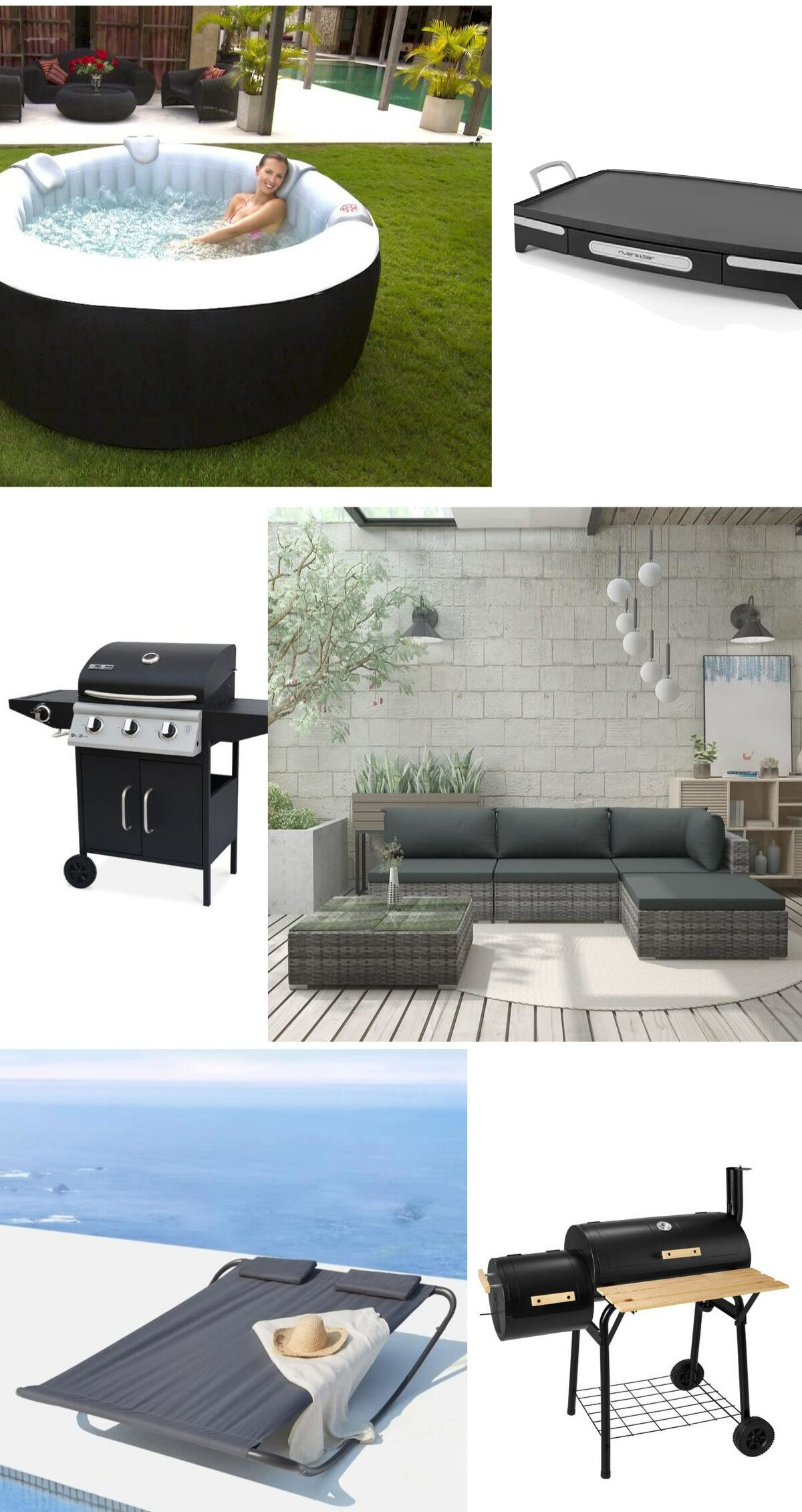 spa gonflable rond pas cher aménager jardin relaxation meuble barbecue