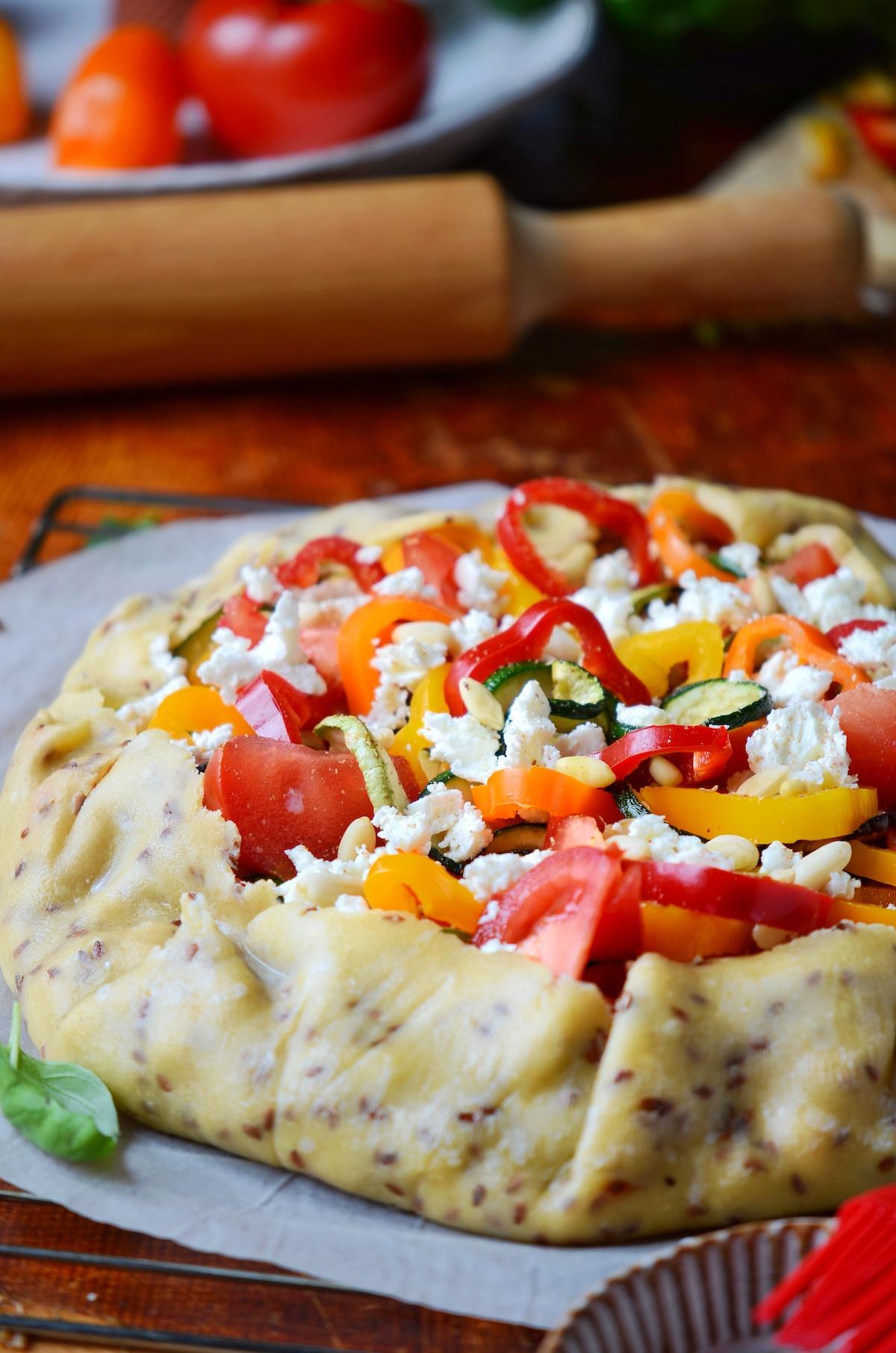 tarte aux légumes du soleil feta healthy régime été - blog clem around the corner