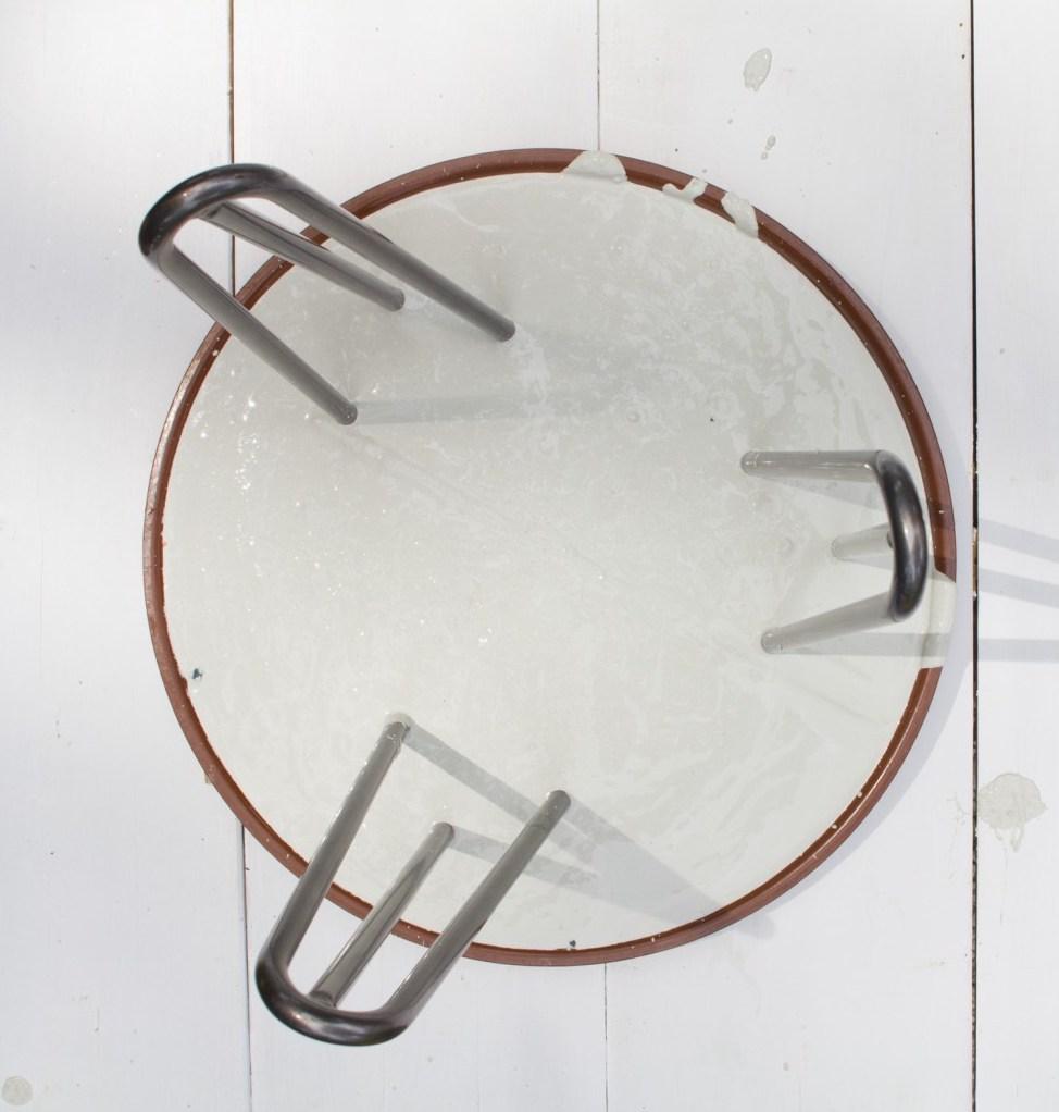 béton bricolage table ronde tendance déco