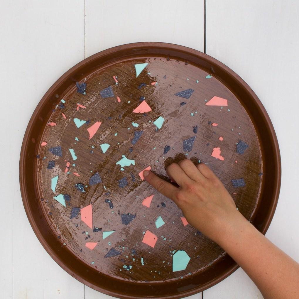 blog déco clematc DIY table terrazzo pâte polymère coloré
