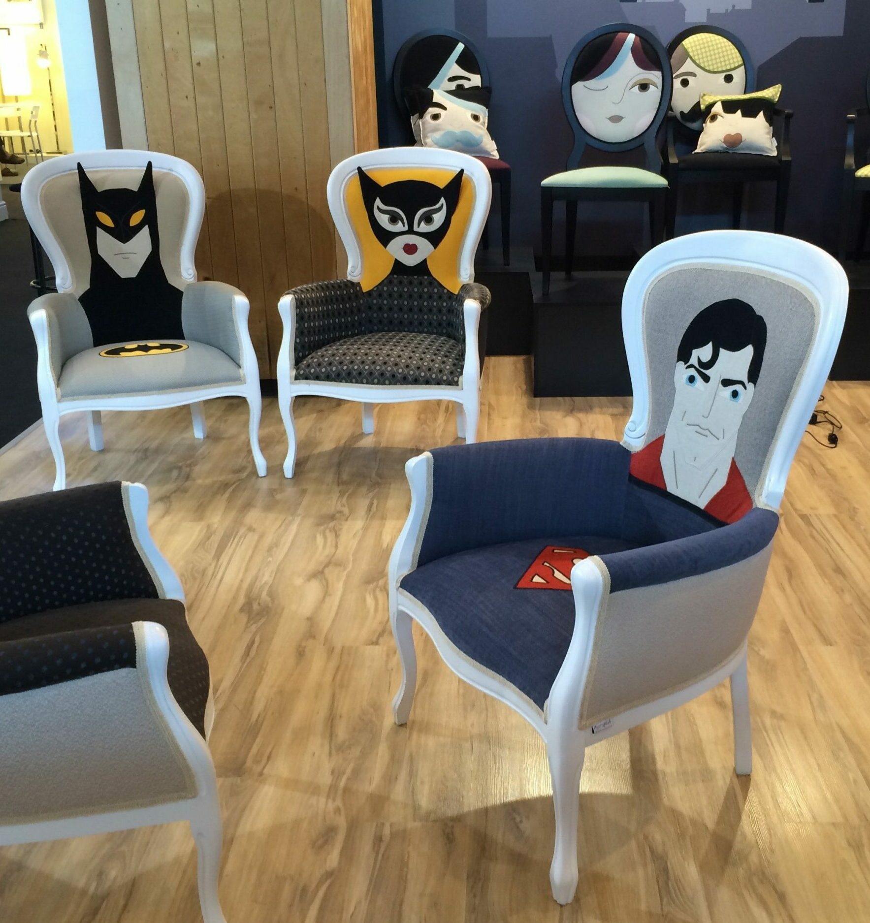 chaise originale personnalisée fauteuil louis super hero batman