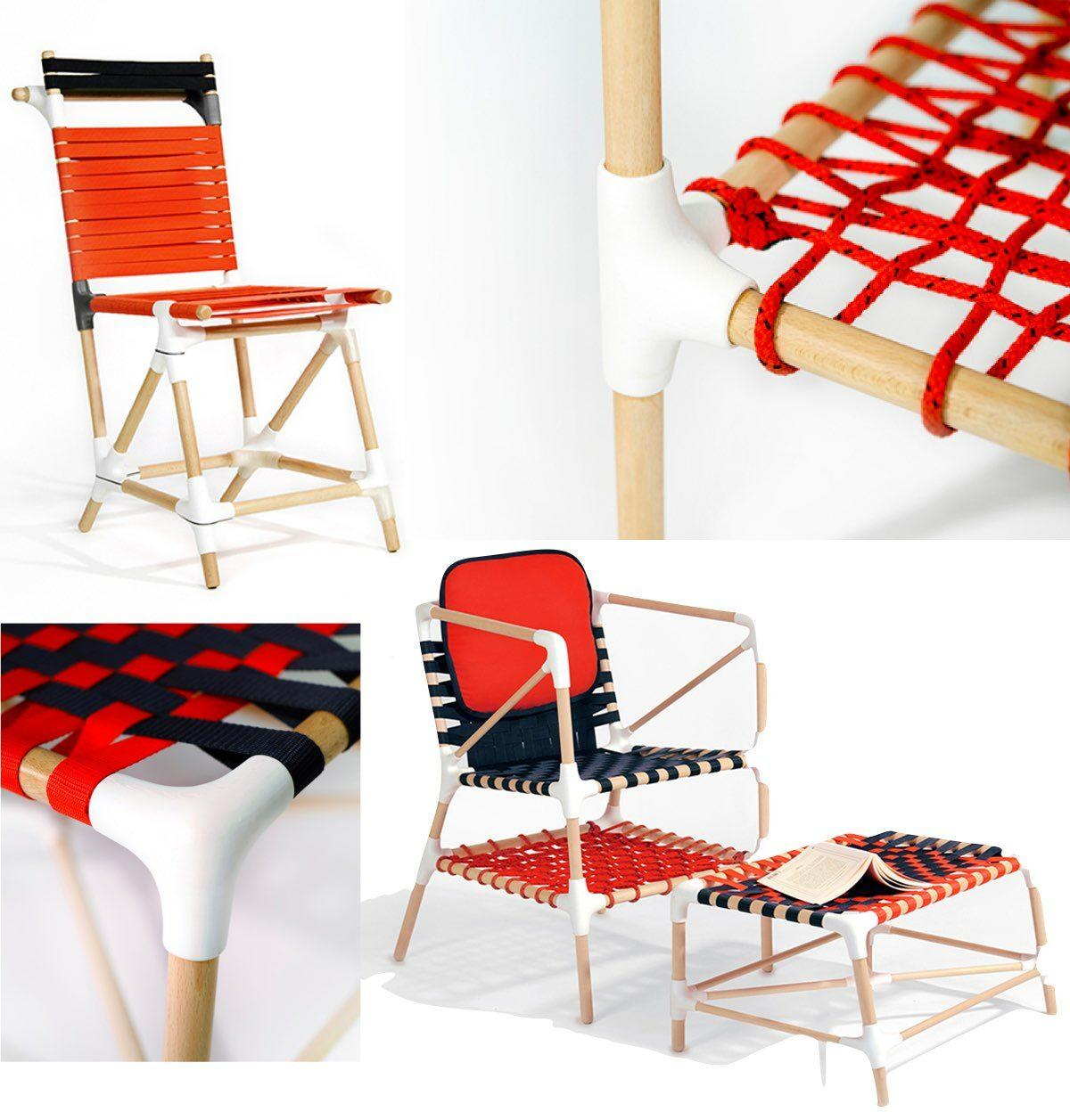 drole oiseau chaise originale diy bois jardin corde tressage à fabriquer soi-même