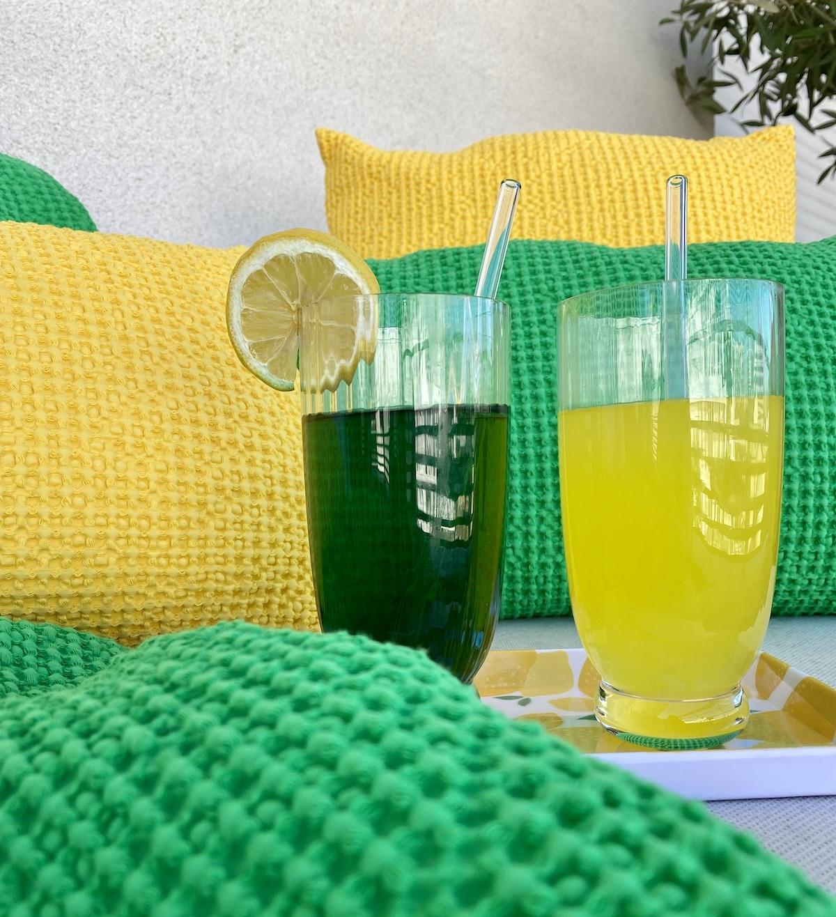 idée cocktail sans alcool jaune vert désaltérant canicule frais