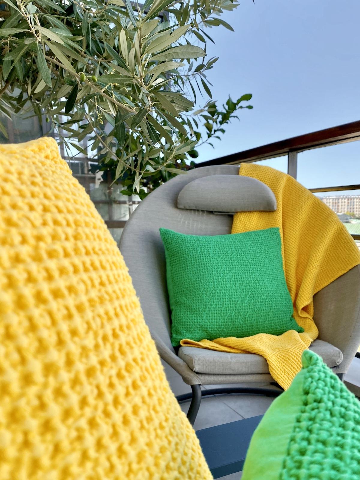 meuble jardin balcon fauteuil relax fabriqué en France beige design