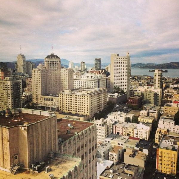 vue architecture San Francisco Alcatraz Grand Hyatt terrasse vue