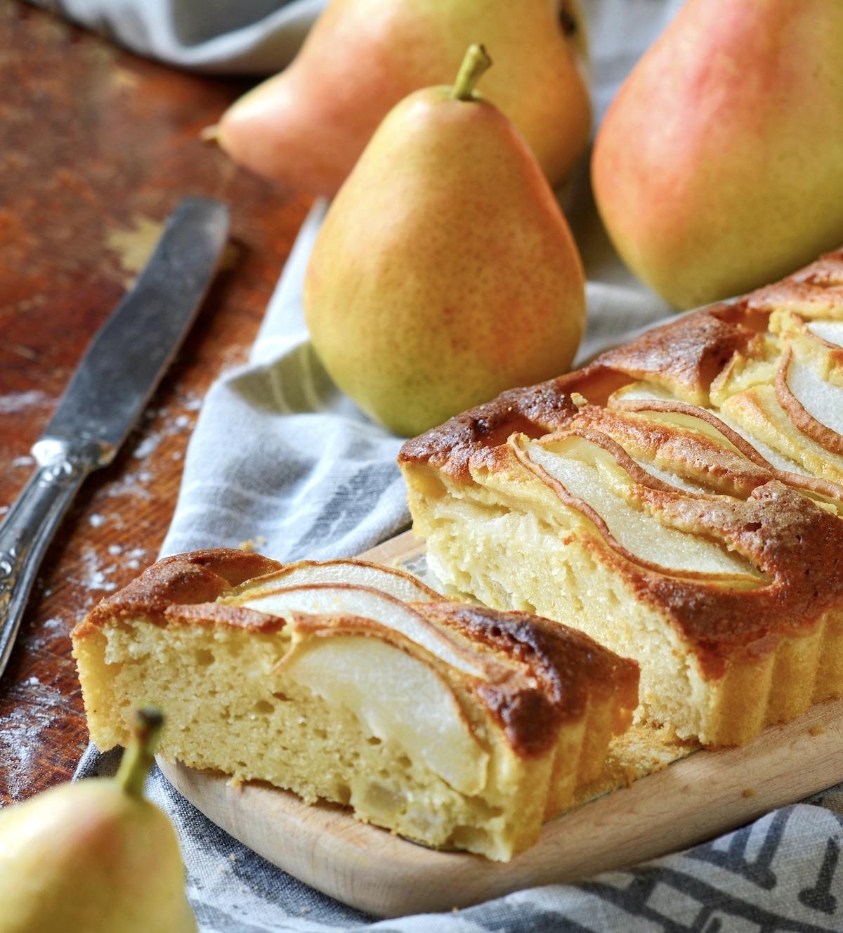 cake moelleux poires recette express facile sans gluten