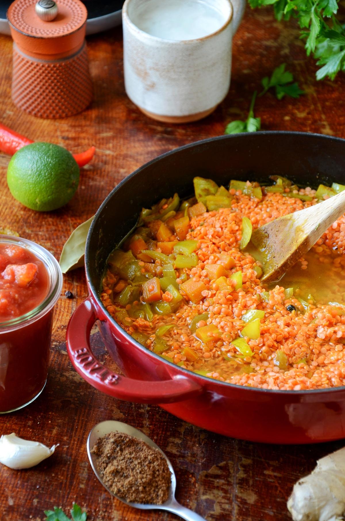 comment cuisiner dahl de lentilles corail original plat végétarien