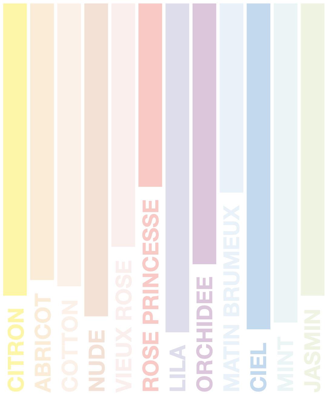 couleur nuance pastel nuancier peinture idée décoration intérieure blog déco clematc