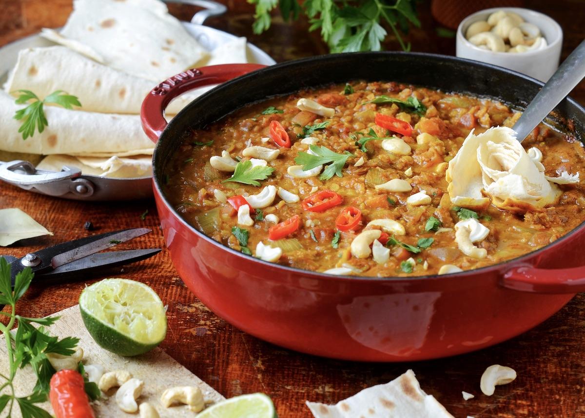 Dahl de lentilles corail recette cuisine maison - clem around the corner