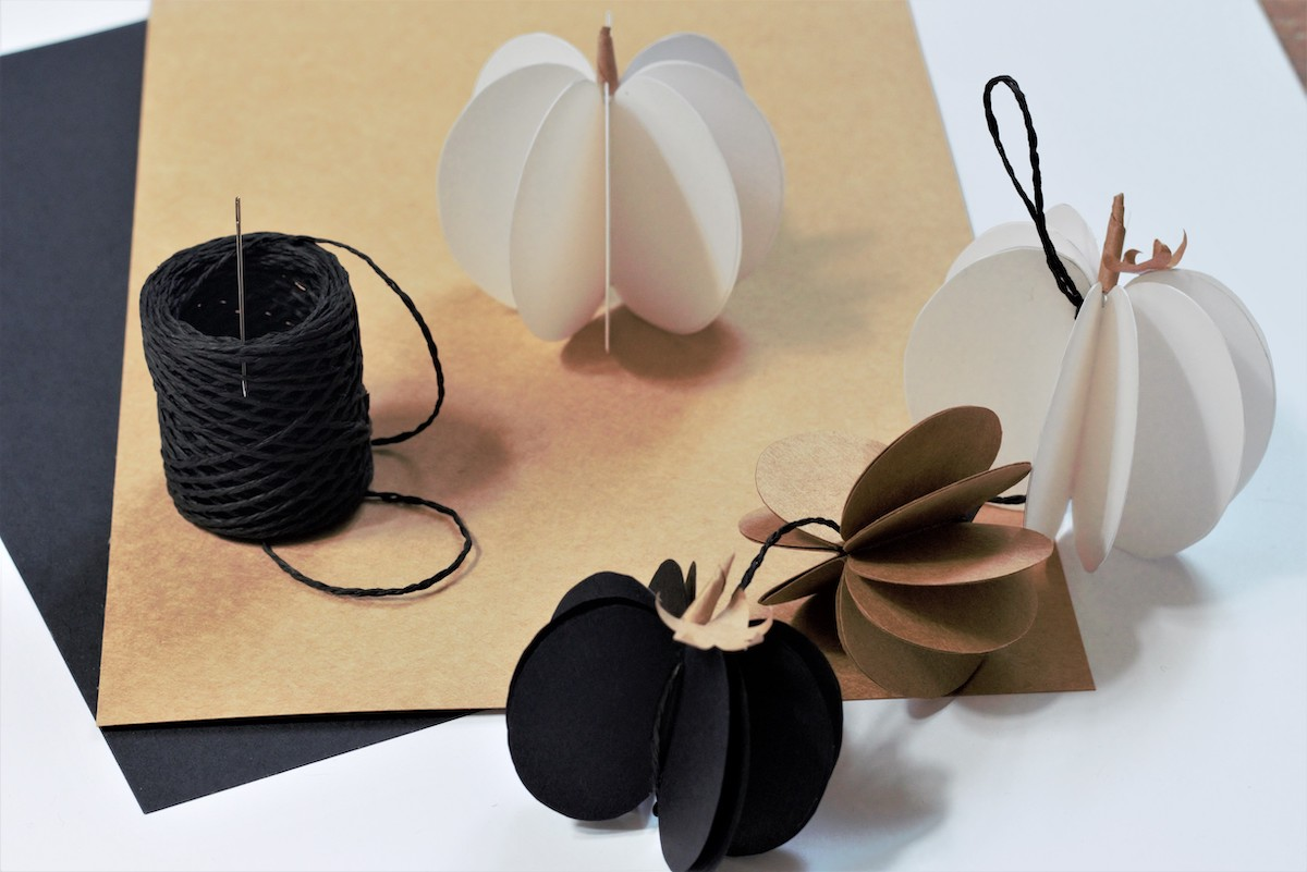 déco table automne à faire soi-même citrouille pliage papier