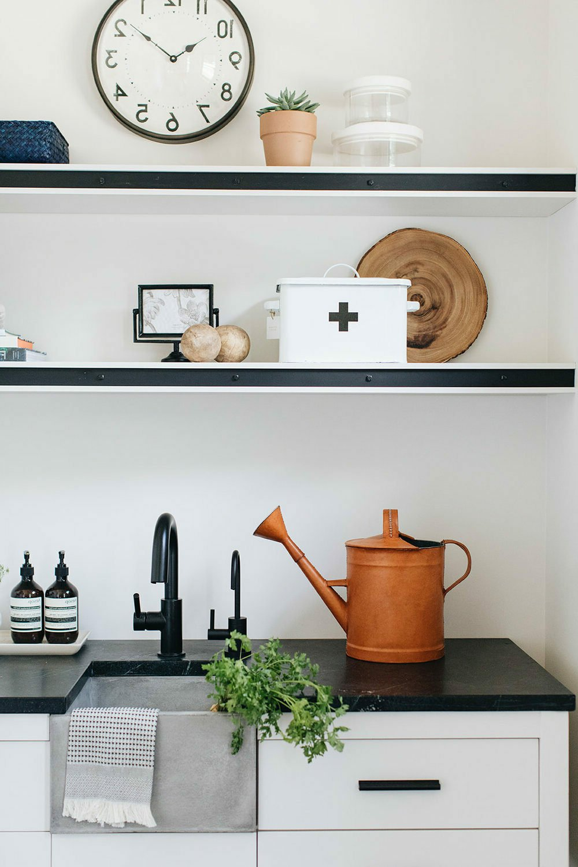 décoration buanderie rétro vintage ferme rénovée aménagement design