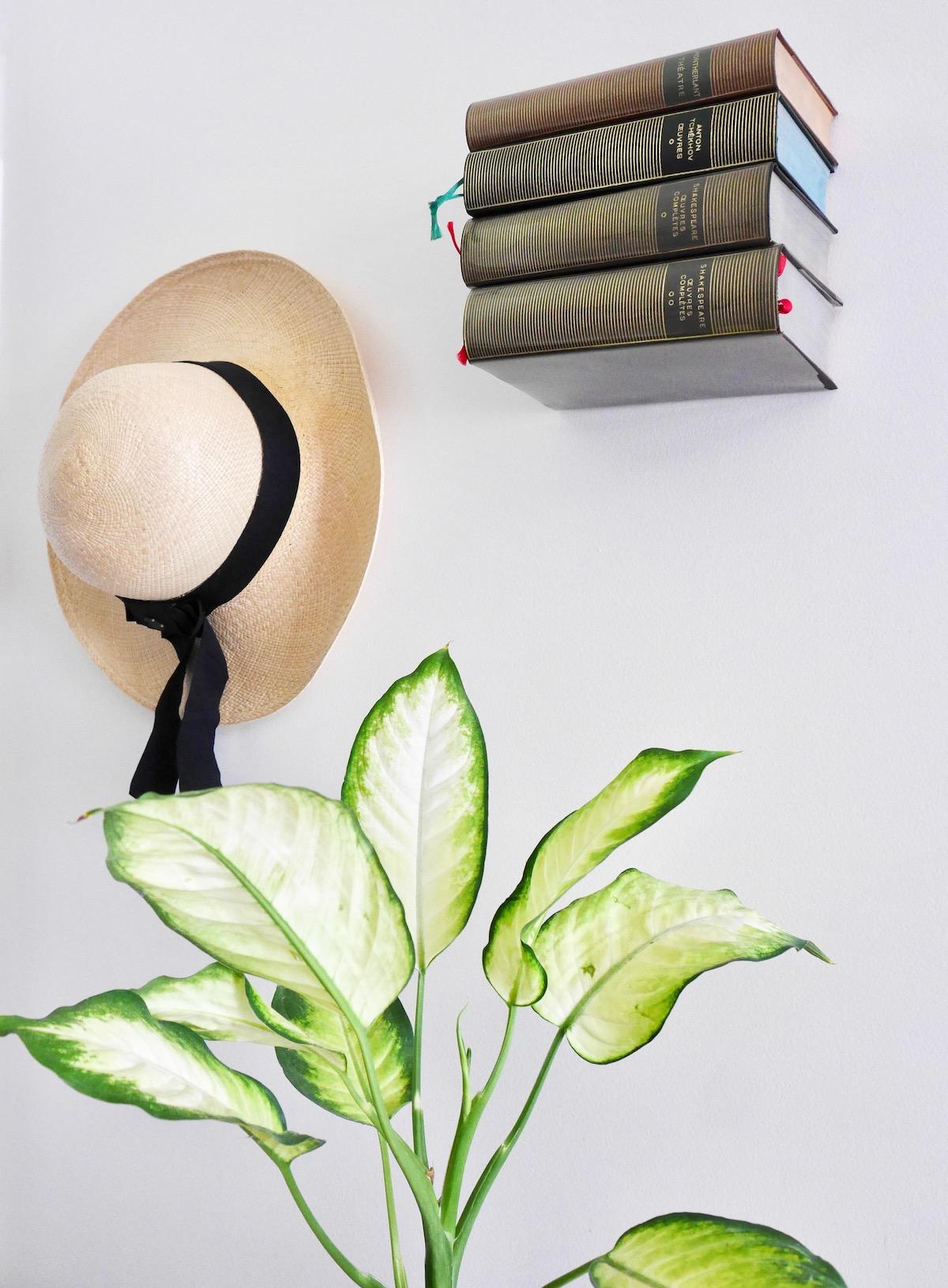 diy magique étagère invisible bibliothèque