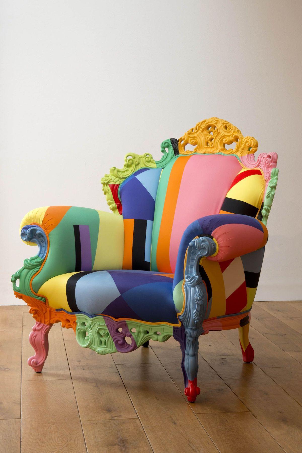 édition géométrique multicolore assise icône design
