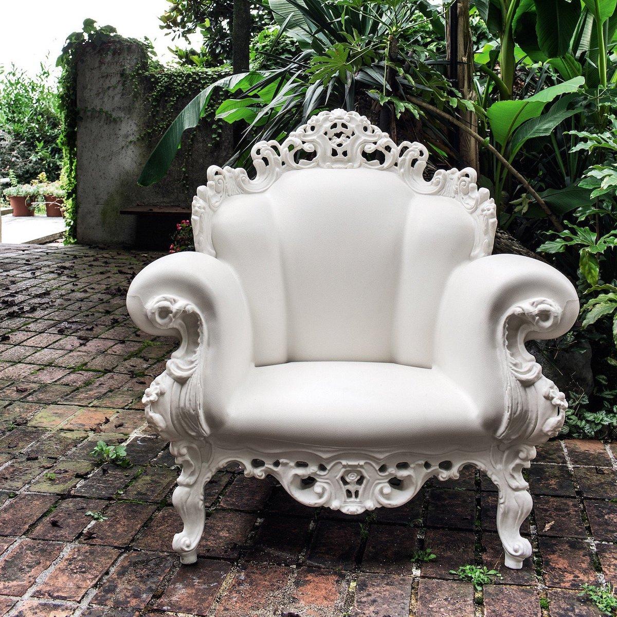 fauteuil proust style baroque moderne extérieur - blog déco - clematc
