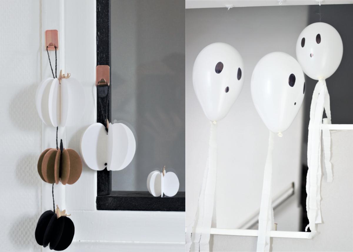 guirlande halloween à faire soi-même déco - blog clem around the corner