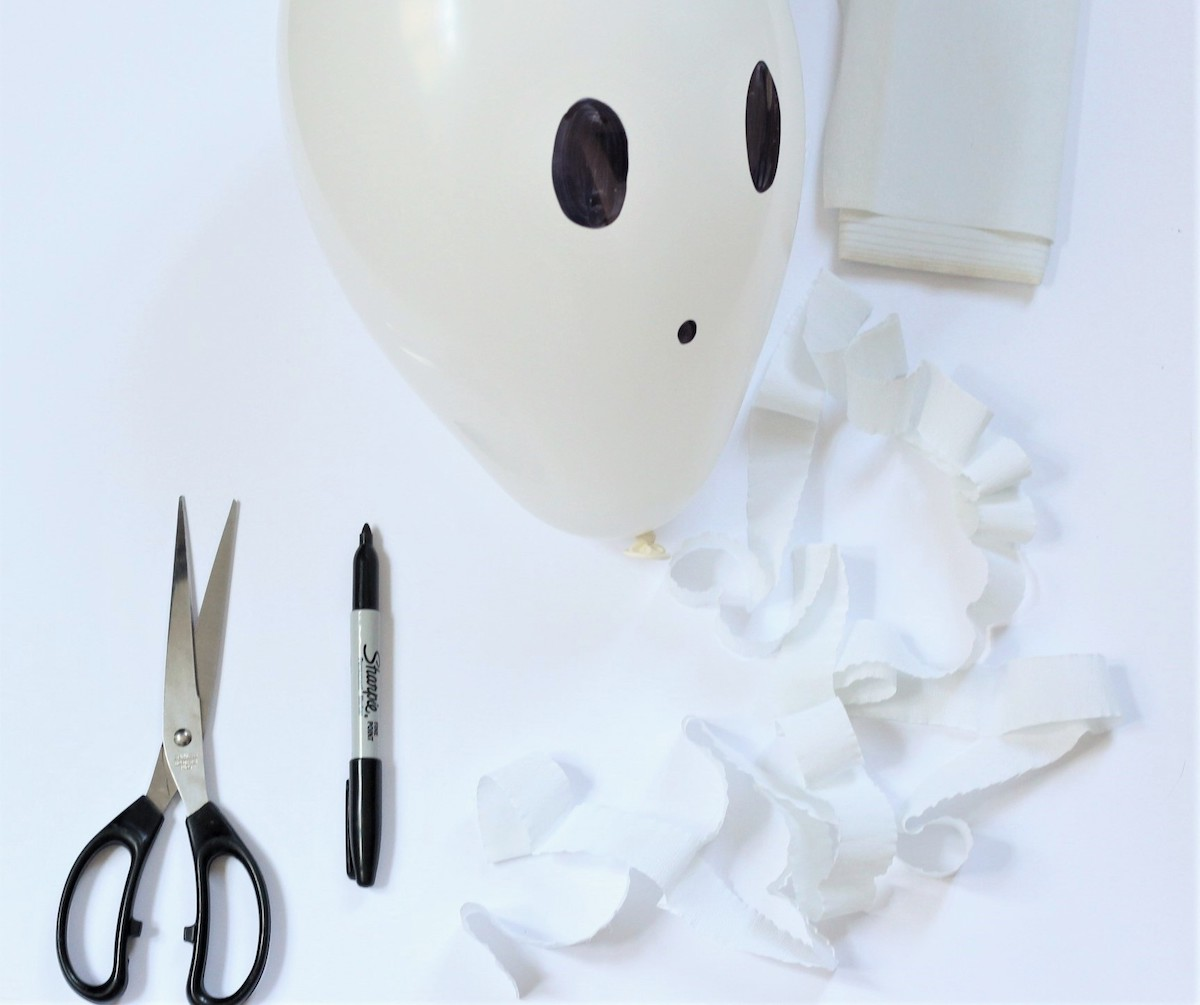 guirlande Halloween à faire soi-même fantôme thème - blog clem around the corner