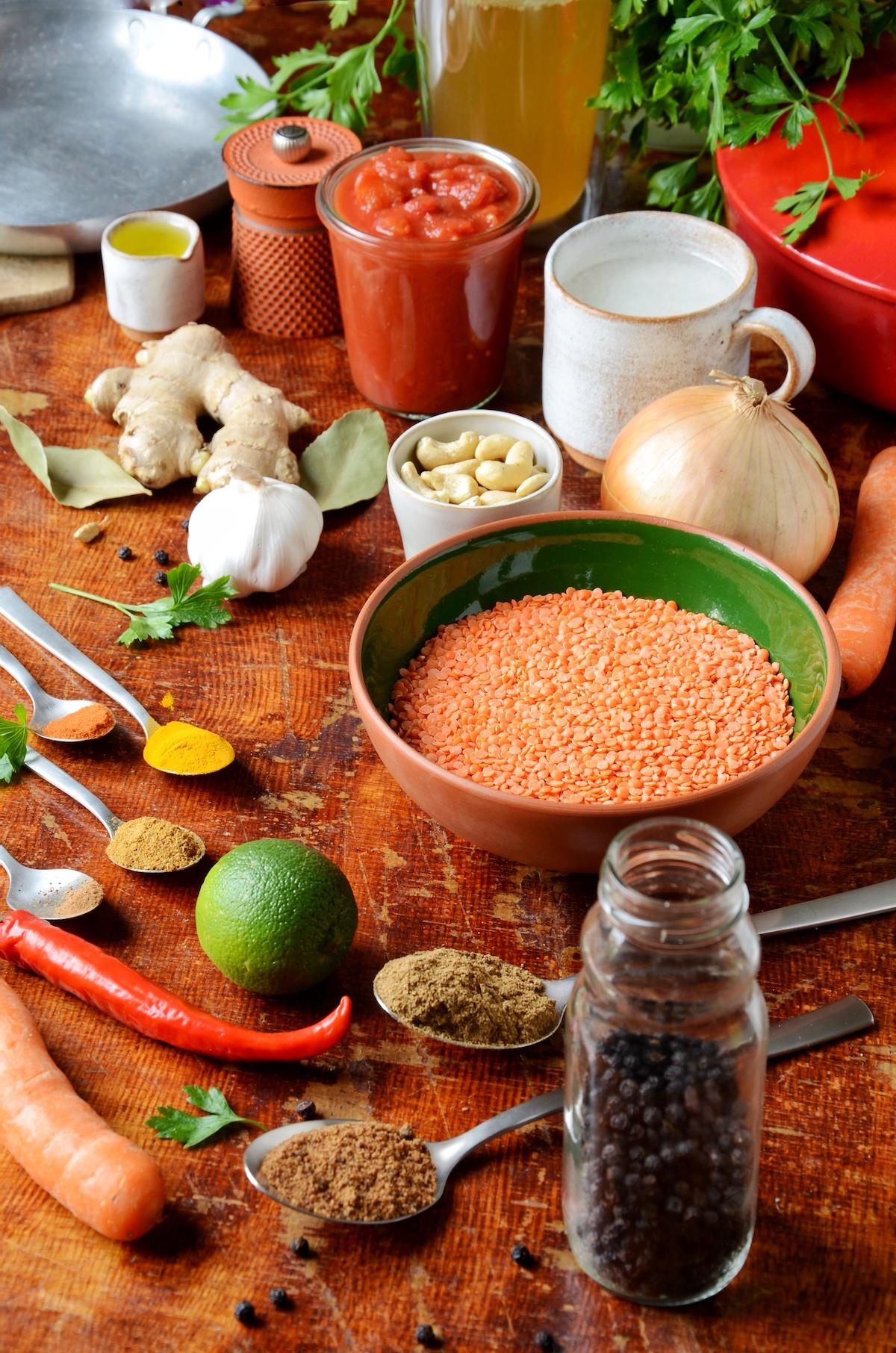idée recette végétarienne originale indienne lentille corail gourmande healthy