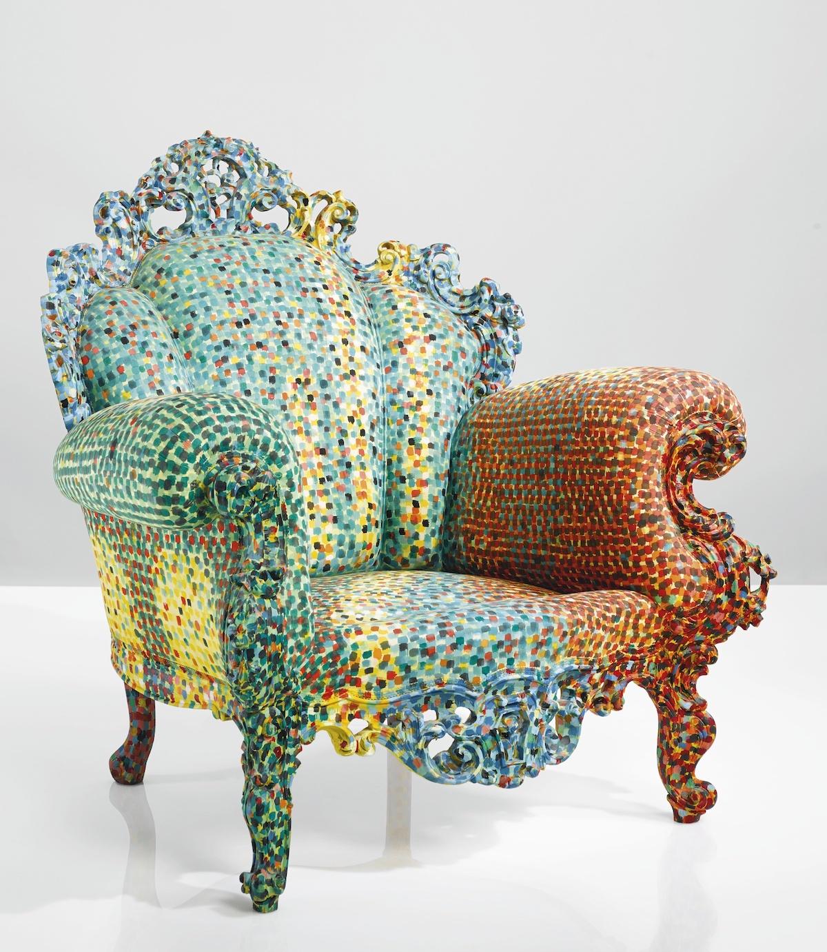 magis fauteuil proust multicolour pointillisme alessandro mendini