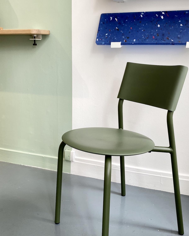 Paris Design Week 2020 chaise empilable minimaliste verte tiptoe ssdr plastique recyclé